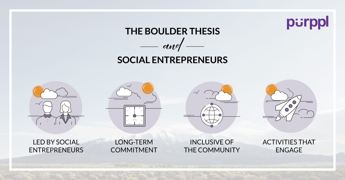 The Boulder Thesis: A Theory for Social Entrepreneurs